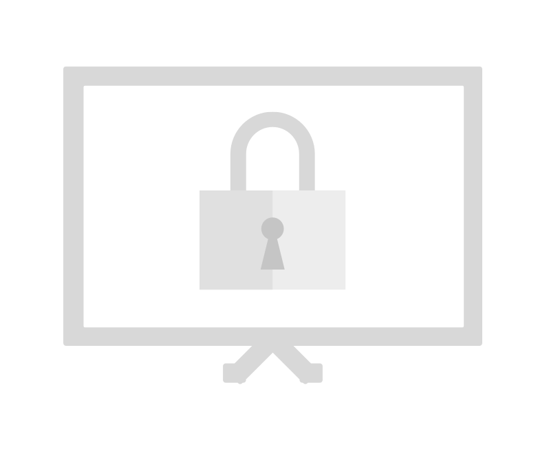 screen showing lock icon